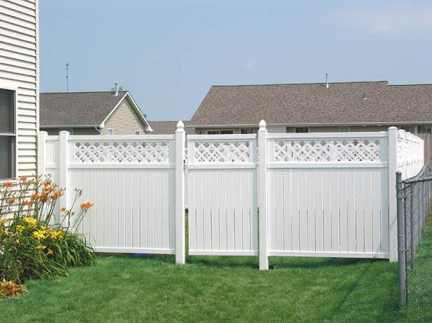 vinyl privacy fence designs